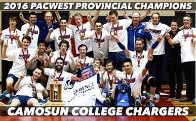 Congratulations to the Camosun College Chargers Men's Volleyball Team