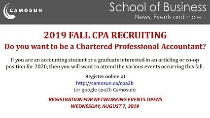 2019 Fall CPA Recruiting Event Registration