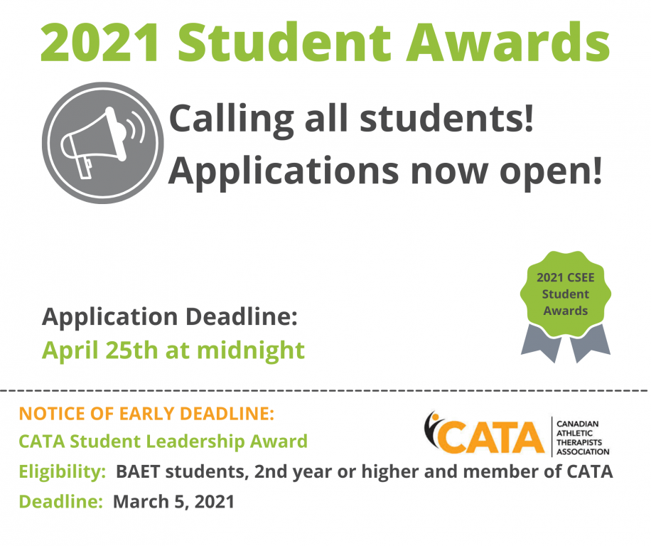 Awards Applications Open and New Awards Added Today!