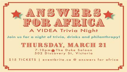 Answers for Africa: A VIDEA Trivia Night