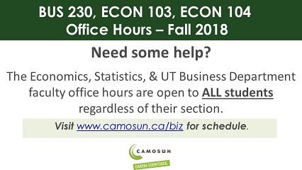 Atrium Signs - ECON 104 Office Hours upd
