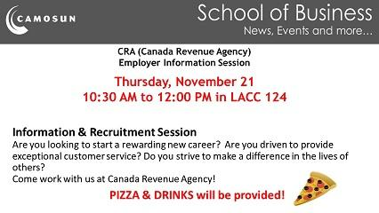 Canada Revenue Agency - Information Session