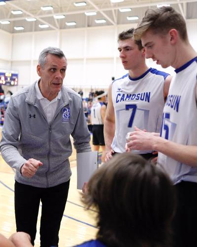 Camosun Chargers men's volleyball team begins their PACWEST Drive for Five