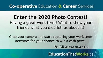 Enter the 2020 Photo Contest - Co-operative Education and Career Services