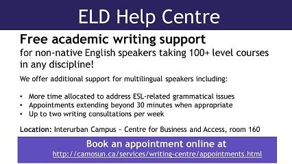 ELD Help Centre - Free academic writing support