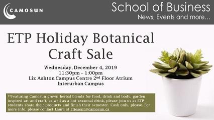 ETP Holiday Botanical Craft Sale