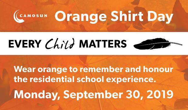 Camosun College recognizes Orange Shirt Day with events on both campuses