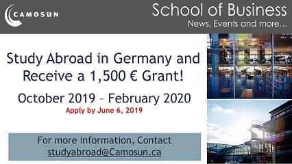 Study Abroad in Germany and Receive a 1,500€ grant!