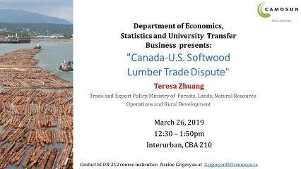Canada-U.S. Softwood Lumber Trade Dispute Presentation