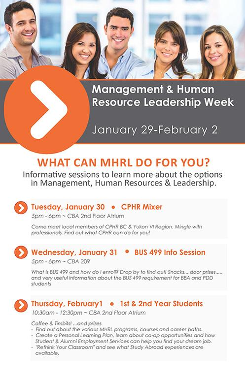 Management & Human Resource Leadership Week Jan 29-Feb 2