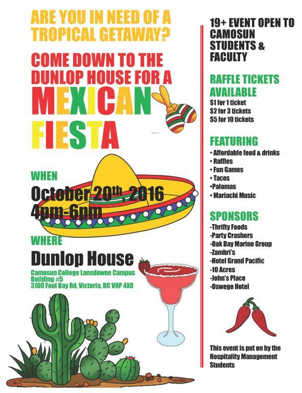 Mexican Fiesta Pub Night at Dunlop House