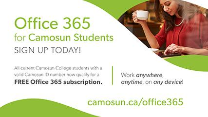 Office 365 for Camosun students