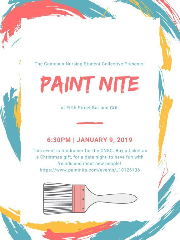 PAINT NITE FUNDRAISER - CAMOSUN NURSING STUDENT COLLECTIVE