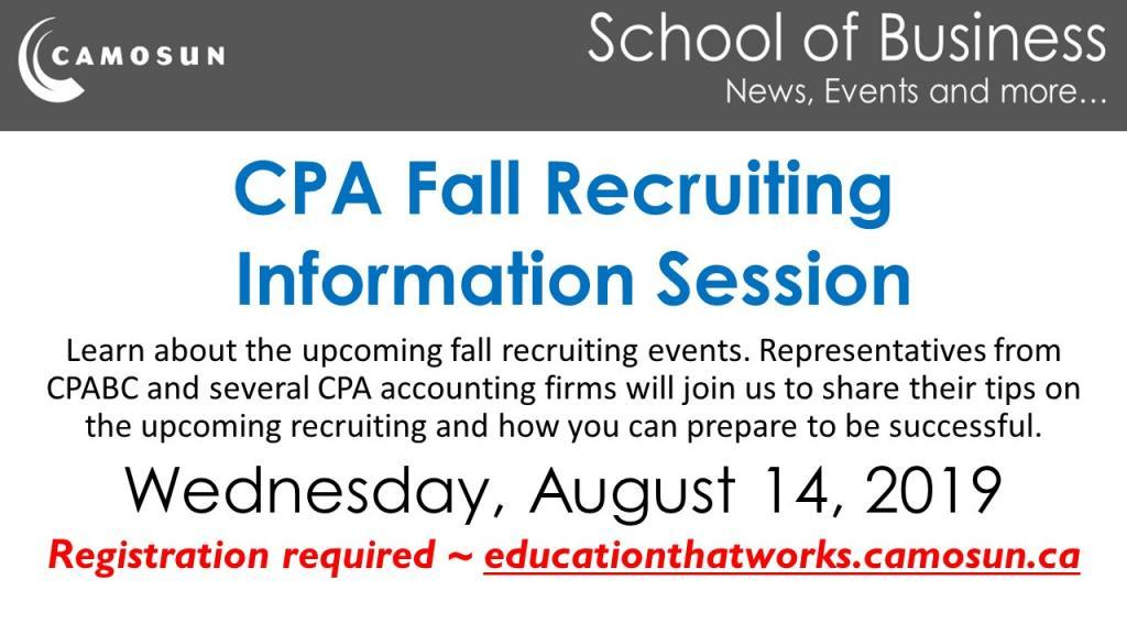 CPA Fall Recruiting Information Session