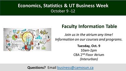 Economics, Statistics & UT Business Week