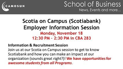 Scotiabank - Information Session