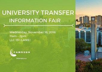 University Transfer Information Fair