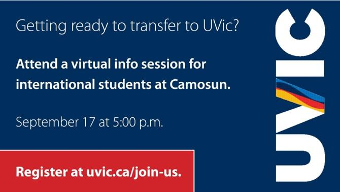 Transfer to UVic: Virtual Event