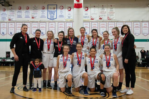 Camosun Chargers women's basketball team brings home PACWEST bronze