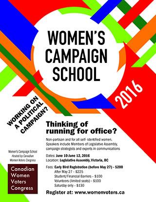 Join us for Women's Campaign School in Victoria, BC
