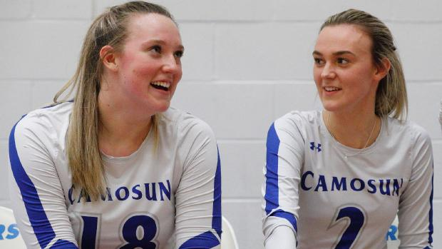 Chargers Women's Volleyball sisters, Hannah and Gracie May, team up for Instagram takeover