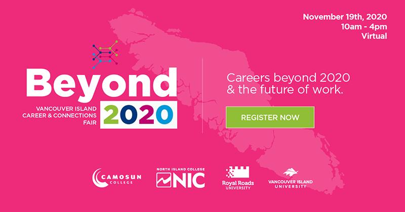 Camosun students invited to island-wide virtual career fair, Nov. 19
