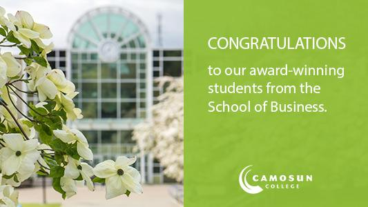 Camosun's School of Business celebrates its award-winning students for 2020