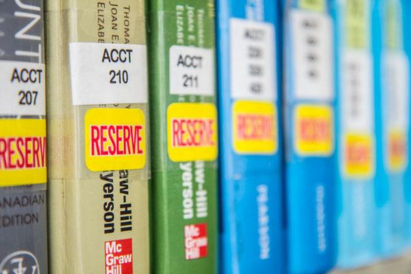 How to find your course reserves...