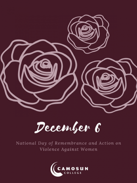 Camosun recognizes days of action against gender-based violence
