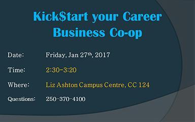 Kick$tart your Career-Business Co-op