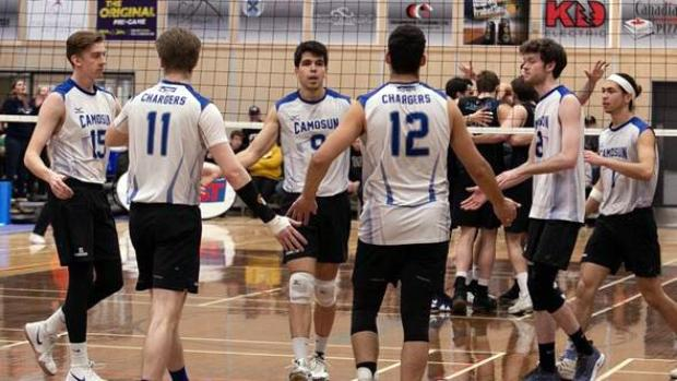 Camosun Chargers men's volleyball team capture silver at the 2019 PACWEST Provincial Championships