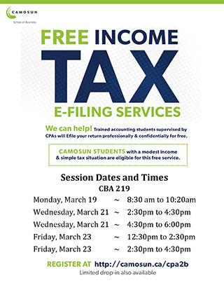 FREE Income Tax E-Filing Services