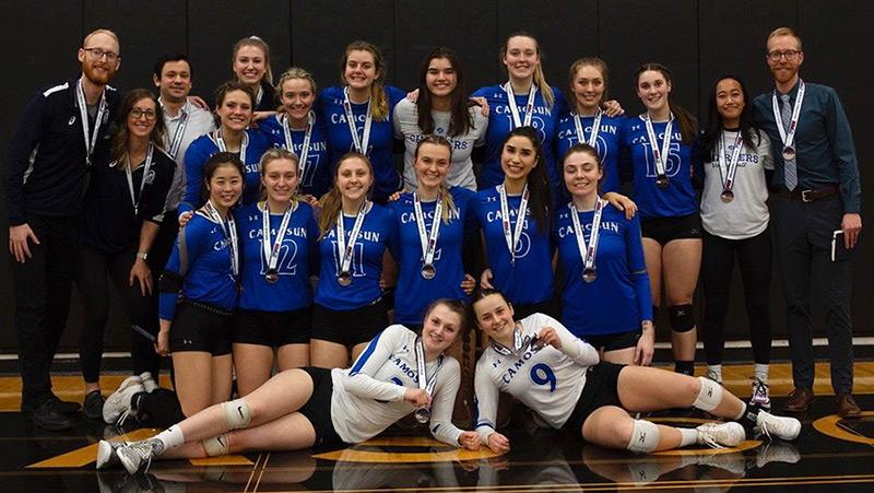 Camosun volleyball teams polish off the 2020 PACWEST season as silver medalists